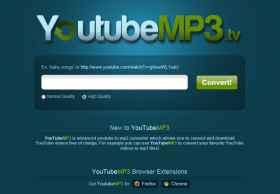 YoutubeMP3:在线将Youtube视频转换成MP3