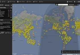 24小时飞行雷达官网:flightradar24 实时跟踪全世界飞行航班